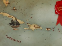 map of caribbean rum trail